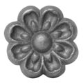 "Cast Iron Rosette, Single Faced.  2-1/8"" Diameter."