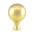 "Polished Brass Finial 3-3/8""Ball 5-1/8""H"