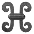 "Cast Iron Picket Casting, Single Faced. 2-7/8""W, 2-3/4"" H"