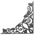 "Cast Iron Corner Bracket, Vineyard. 20-1/2"" W"