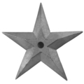 "Cast Iron Star Earthquake Washer.  15-1/2"" Diameter."