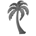 "Cast Iron Palm Tree, Right. 9-1/16""W, 14-9/16""H"