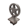 "Cast Iron Post w/Star, Drives In 1-1/2""Square"