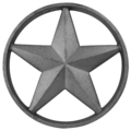 "Cast Iron Star. 1"" Thick, 11""Diameter"