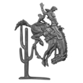 "Cast Iron Cowboy Bronco Rider,16-3/4"" High"