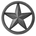 "Cast Iron Star. 1-1/4"" Thick,6-7/16"" Diameter"