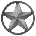 "Cast Iron Star. 9/16"" Thick, 5-1/4"" Diameter"