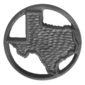 "Cast Iron State of Texas Rosette. 5-5/16"" Diameter"