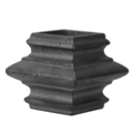 "Cast Iron Collar. Fits 2"" Square, 2-3/4"" H"