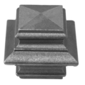 "Cast Iron Post Cap. Fits Over1-1/2"" Square."