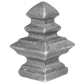 "Cast Iron Finial.  Fits Over1"" Square."