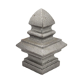 "Cast Iron Finial. Fits Over 1"" Square."