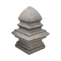 "Cast Iron Finial. Fits Over 1-1/2"" Square."