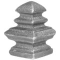 "Cast Iron Finial.  Fits Over 2"" Sq"