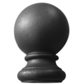 "Cast Iron Post Ball Fits Over 1-1/2"" Round"