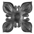 "Forged Steel 4 Petal Flower. 4-1/8"" Diameter"