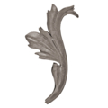 "Forged Steel Acanthus Leaf. 2-15/16"" Width, 6-5/16"" Height."