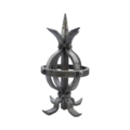 "Forged Steel Post Top, Global. 10-1/4"" Height."