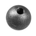 "Forged Steel Ball 3/4"" Diameter. 1/4"" Rnd. One Sided Hole."