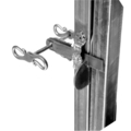 "3 Piece Forged Steel Gate Latch.  7-5/16"" W, 4-5/16"" Height."