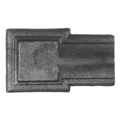 "Cast Steel Terminal End Piece2-1/4"" W"