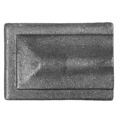 "Cast Steel Square End Piece. 1-3/4"" Handrail"