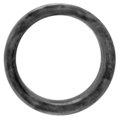 "[DD] Forged Steel Seamless Ring.  2-1/2"" Diameter."