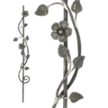 "[U] Forged Steel Spindle-Baluster,Vine&Flower 45-1/4"" H."