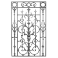 "Cast Iron Panel, Single Faced.23-3/4"" W, 39-1/4"" H"