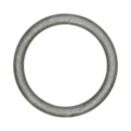 "[Z] Forged Steel Round Bar Ring 4-1/2"" Diameter"