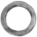 "[F] Solid Hammered Ring. 3-1/4"" Diameter"