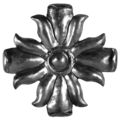 "Forged Steel Flower.  6-5/16""Diameter."