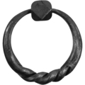 "Forged Steel Ring Pull, Twisted. 3-15/16"" H"