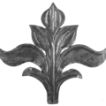 "Forged Steel Leaf.  6-7/8"" Width, 6-5/16"" Height."