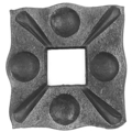 "Forged Steel Decorative Base Plate.  Fits 5/8"" Square."
