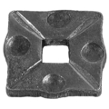 "Forged Steel Decorative Base Plate.  Fits 3/4"" Square."