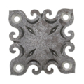 "Steel Decorative Base Plate, 3"" Base"