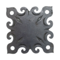 "Steel Decorative Base Plate, 4"" Base"
