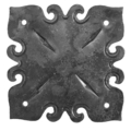 "Steel Decorative Base Plate, 6"" Base"