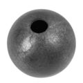 "Forged Steel Ball 2-3/8"" Diameter. 20mm Rnd. One Sided Hole."
