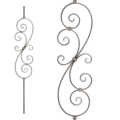 "[C] Forged Steel Baluster, S & C Design. 45-1/4"" Height."