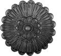 "Cast Steel Rosette.  5-11/16""Diameter."