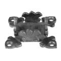 "Forged Steel Decorative Base Plate. Fits 1"" Square."