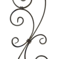 "[A] Forged Steel Baluster w 2 ""S"" Scrolls 35-7/16"" Height."