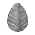 "Stamped Steel Oval Leaf. 1-5/8"" H"