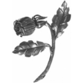 "Forged Steel Rose.  9-7/8"" Height."