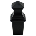 "Plastic Finial, Black. Drives In 1"" Square."