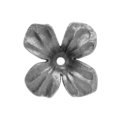 "Forged Steel 4 Petal Flower.3/16"" Hole. 2-3/8"" Diameter."