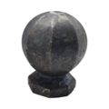 "Forged Steel Finial, 2-3/4"" Height, 2-1/4"" Diameter."