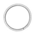 "[AA] Aluminum Flat Bar Ring. 3-15/16"" Diameter."